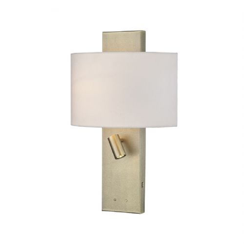 Dijon Wall Light Aged Brass Cw Shade (double insulated) BXDIJ0945-17